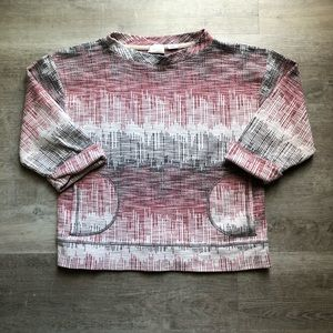 Anthropologie 3/4 sleeves top size M